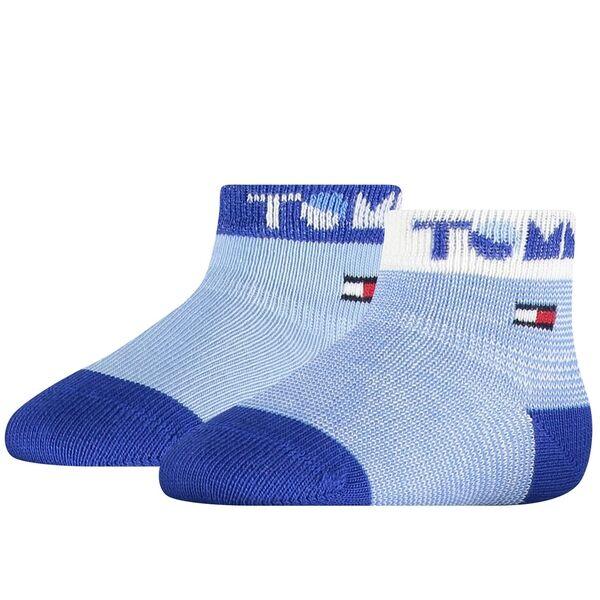 Tommy Hilfiger Baby 2-pak Tommy Strømper Blue Combo
