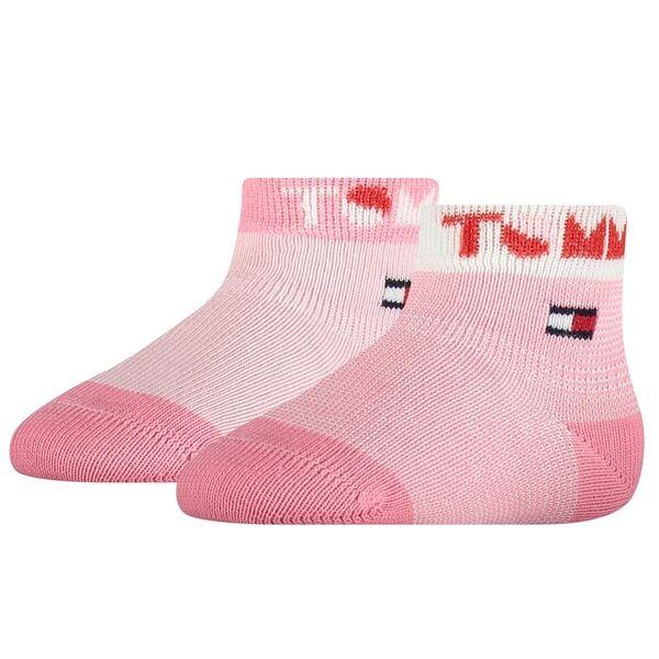 Tommy Hilfiger Baby 2-pak Tommy Strømper Pink Combo
