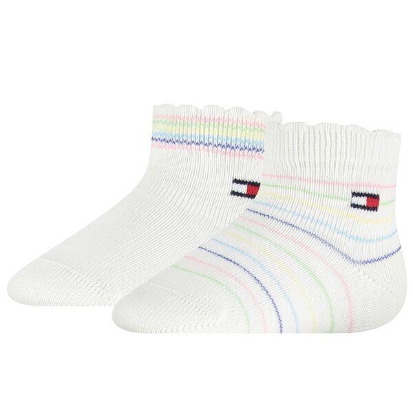 Tommy Hilfiger Baby 2-pak Multicolor Strømper White