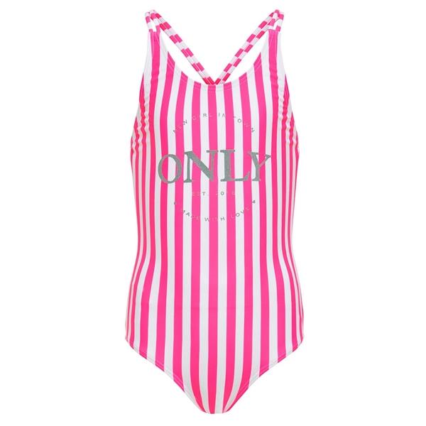 Kids ONLY Pink Striped Caroline String Badedragt