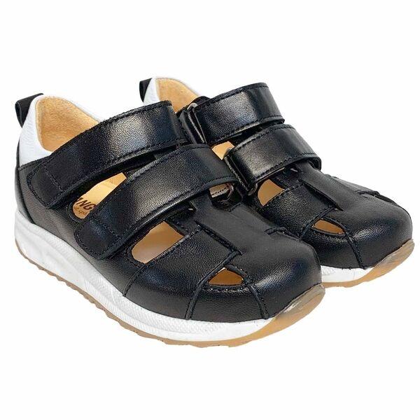 Angulus Sporty Sandal M. Velcro Sort/Hvid 3313-101-8051