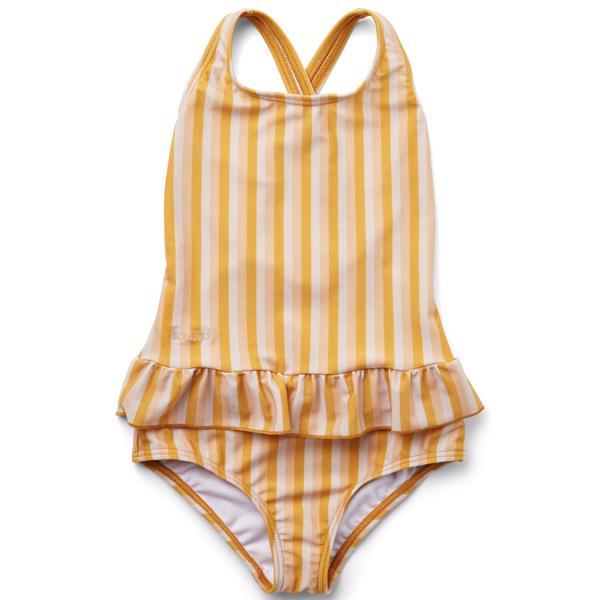Liewood Amara Badedragt Stripe Peach Sandy Yellow Mellow