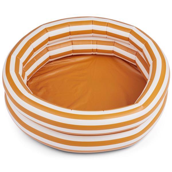 Liewood Leonore Badebassin Stripe: Mustard/Creme de la Creme