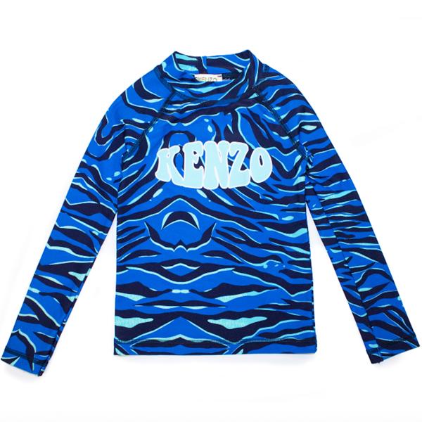 Kenzo Ken Capsule Summer Swim Shirt Blue Sea