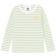 wood-wood-bluse-blouse-offwhite-green-groen-striber-stripes
