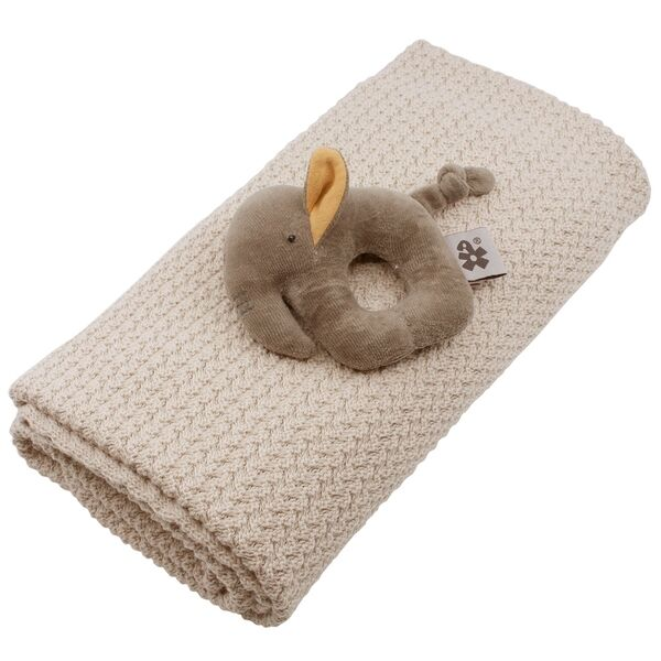 sebra-gaveaeske-gift-set-beige-taeppe-blanket-rangle-rattle