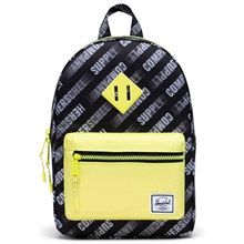 herschel-heritage-kids-backpack-rygsaek-hsc-montion-black-highlight-girl-pige-boy-dreng-unisex