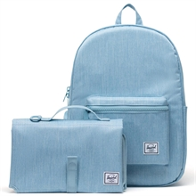 herschel-settlement-sprout-nursery-bag-pusletaske-light-denim-crosshatch-boy-dreng-girl-pige-mom-mor