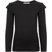 name-it-bluse-med-flæse-black
