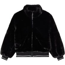 Name it Black Faux Fur Manette Jakke Bomber