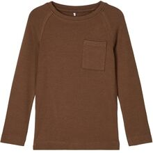 name-it-coffee-liqueur-ovald-bluse-top-boy-dreng-brown
