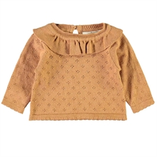 lil-atelier-gliva-knit-strik-blouse-bluse-tobacco-brown-brun-girl-pige