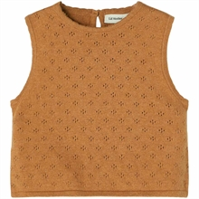 lil-atelier-gliva-short-knit-strik-vest-tobacco-brown-brun-girl-pige