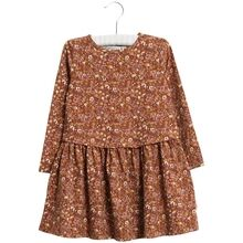 wheat-kjole-dress-nutella-flowers-brun-brown-blomster