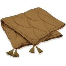 konges-sloejd-taeppe-quilted-blanket-dark-honey