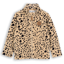 mini-rodini-jakke-jacket-fleece-beige-spots-dots-prikker