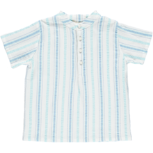 Pierrot la Lune Mikkel Shirt Blue/Turquoise Stripes