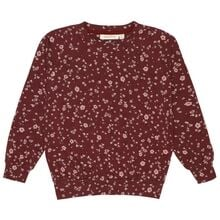 Soft Gallery Oxblood Red Flowery Galou Sweatshirt