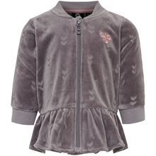 hummel-zip-jacket-jakke-cardigan-ada-rabbit-grey-graa-velour