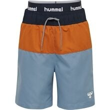 hummel-badeshorts-swimshorts-blue-blaa-navy-yellow-gul-brown-brun