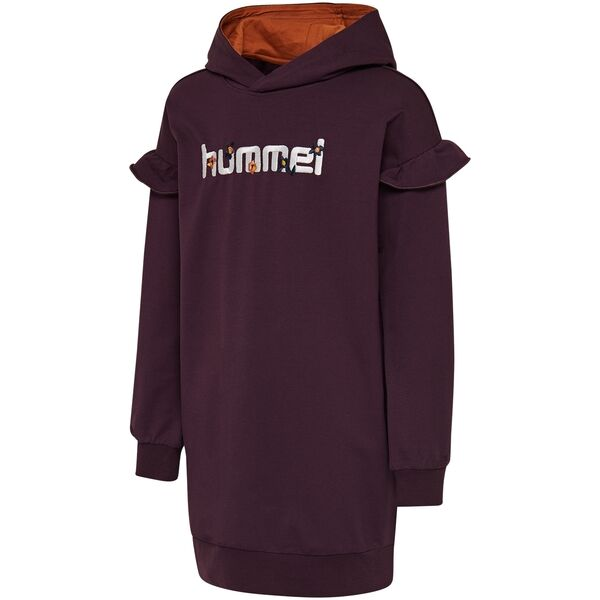 hummel-aiko-dress-kjole-blackberry-wine-girl-pige