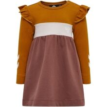 hummel-victoria-dress-kjole-marron-girl-pige