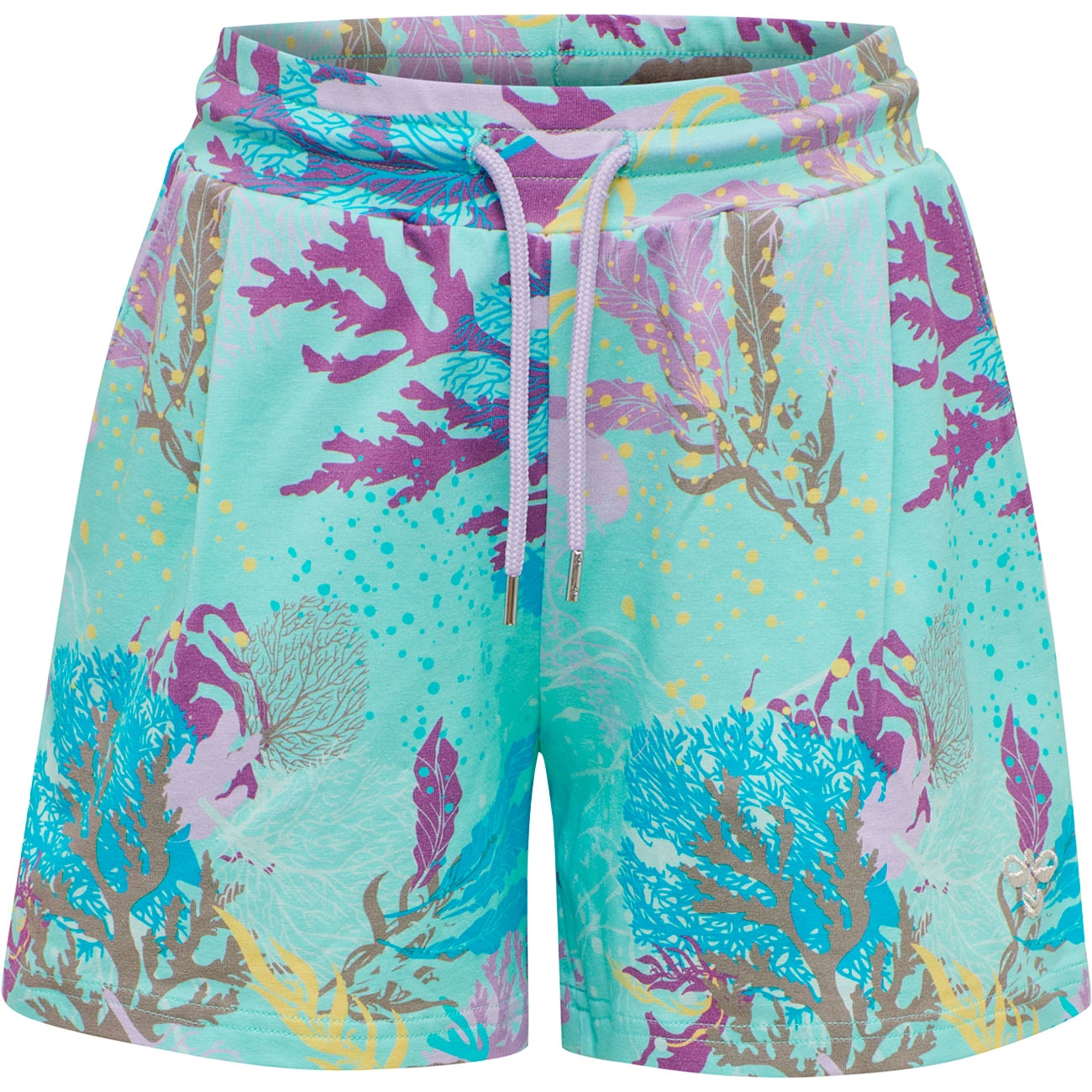 hummel-shorts-turquoise-turkis-purple-lille-tree-traa