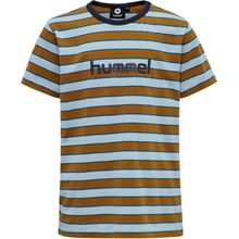 rubber-hummel-t-shirt-tee-rubber-stripes-striber-brun-brown-blue-blaa