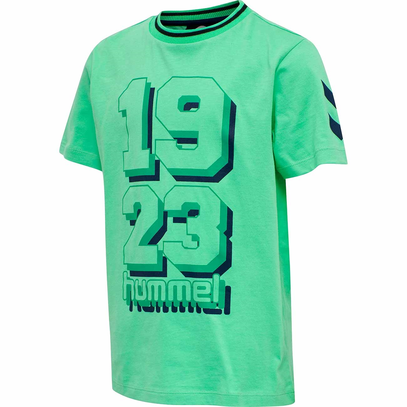 hummel-tshirt-jade-cream-light-green-lysegroen-pattern-moenster