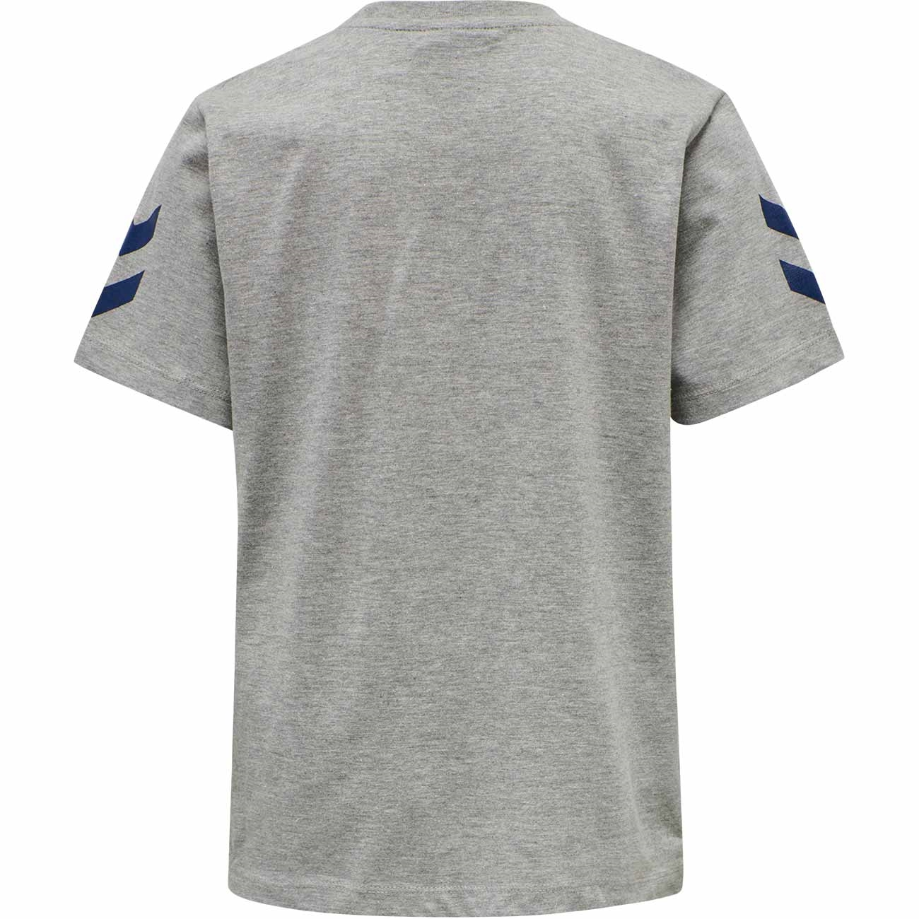 hummel-t-shirt-shocker-grey-melange-graa-logo