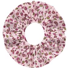Pierrot la Lune Columbine Collar Burgundy Flower Print