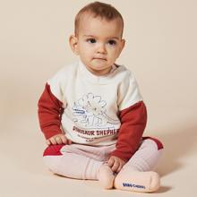 Bobo-Choses-dino-sweatshirt-hvid-white-red-roed