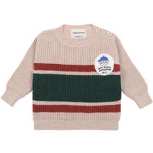 Bobo-Choses-sweatshirt-sweat-boy-batch-jumper-beige-red-roed-green-groen
