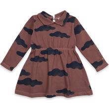 Bobo-Choses-kjole-dress-clouds-all-over-skyer-brun-brown