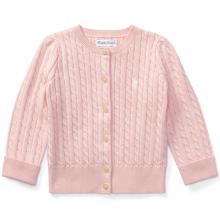 Ralph Lauren Baby Girl Mini Cable Knit Cardigan Pink