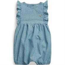 Ralph Lauren Baby Girl Shortall Polo Indigo Blue