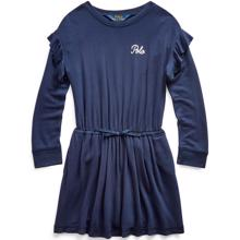 Polo Ralph Lauren Girl Ruffle Dress French Navy