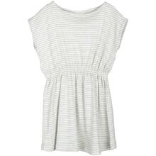 Serendipity Cloud/Offwhite Stripe Beach Kjole