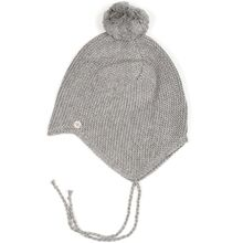 Huttelihut-babie-hat-hue-yarn-garn-pompom-light-grey-lys-graa
