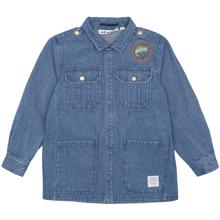 Soft-Gallery-Early-Jacket-jakke-skjorte-shirt-Denim-Blue-Fishclub-Emblem