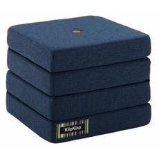 By KlipKlap KK 4 Fold Dark Blue w Orange Buttons