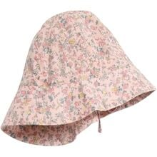 Wheat Sun Cap Baby Girl Multi Flowers
