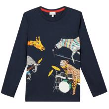 paul-smith-bluse-navy-blaa-blue-animals-dyr-musik-music-band