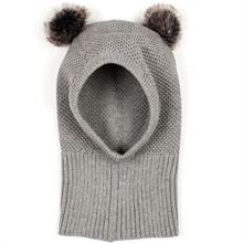 Huttelihut-Knotty-single-layer-hat-fake-fur-pom-pom-light-grey-graa