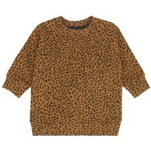 soft-gallery-Sweatshirt-Alexi-Golden-Brown-AOP-Leospot