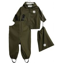 Wheat-rainwear-charlie-regntoej-army-leaf-green-groen