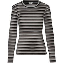 mads-noergaard-bluse-blouse-striber-stripes-black-grey-sort-graa-glimmer-glitter-gold-guld