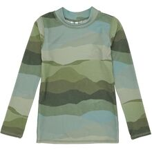 Soft-Gallery-badebluse-groen-Astin-Sun-Shirt-Greige-Aop-Land-scape