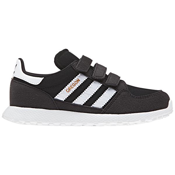 sports shoes a0b0b 9d76e ... cheap adidas sneakers sko black sort hvid white velcro ece07 e12f5
