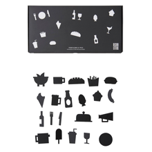 Design-letters-food-mad-icons-black-sort-message-board